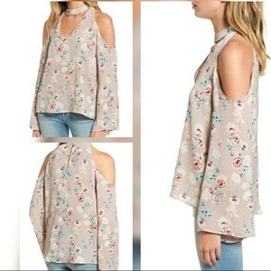 Lush Cold Shoulder Floral Top